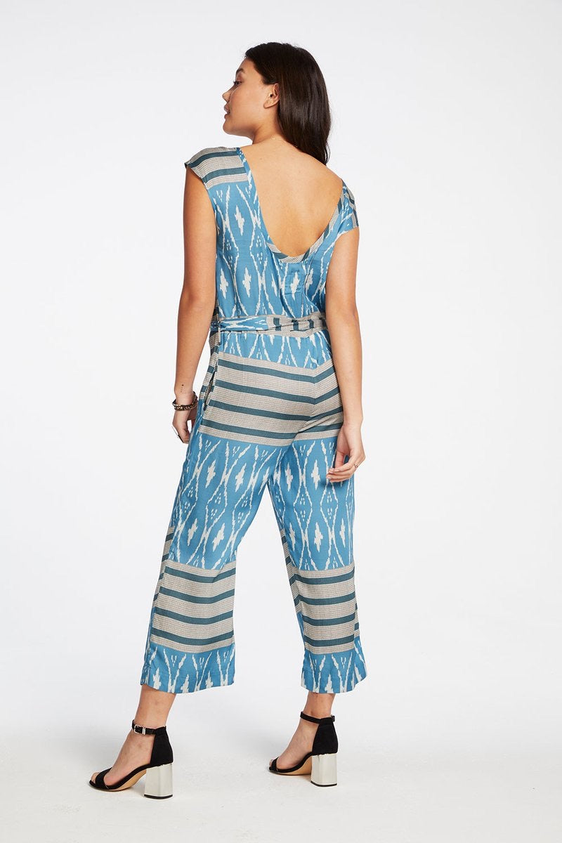 Silky Blue Scoop Back Jumpsuit