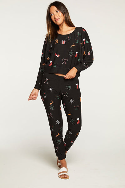 Holiday Stitches Jogger