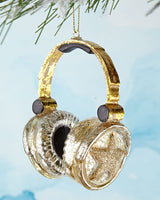 Glitter Gold Headphones Ornament