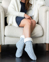Oh So Cozy Knit Sherpa Slipper Socks