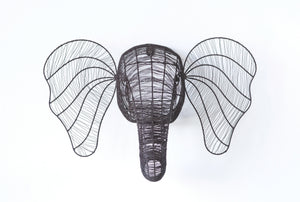 Wire Metal Elephant Wall Hanging
