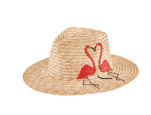 Straw Flamingo Fedora