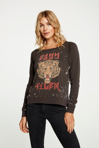 Tiger Power Long Sleeve Pullover