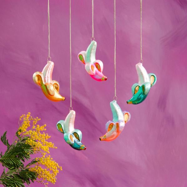 Rainbow Banana Ornament