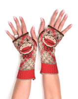 Recycled Sock Monkey Hand Warmers