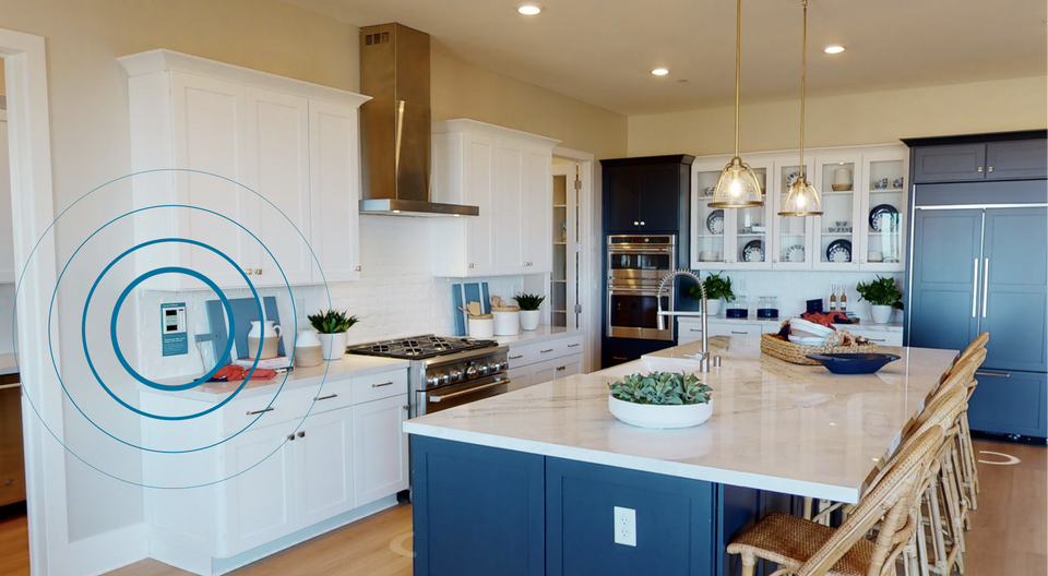 The New Home Company — kitchen with Brilliant Control Panel