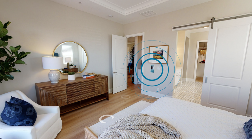 The New Home Company — bedroom with Brilliant Control Panel
