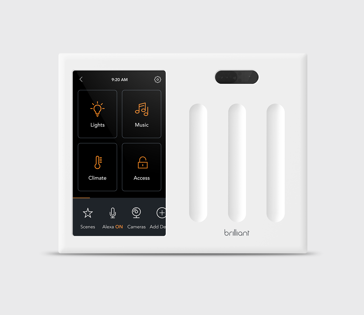 Brilliant All-in-One 3 Switch Smart Home Control - White