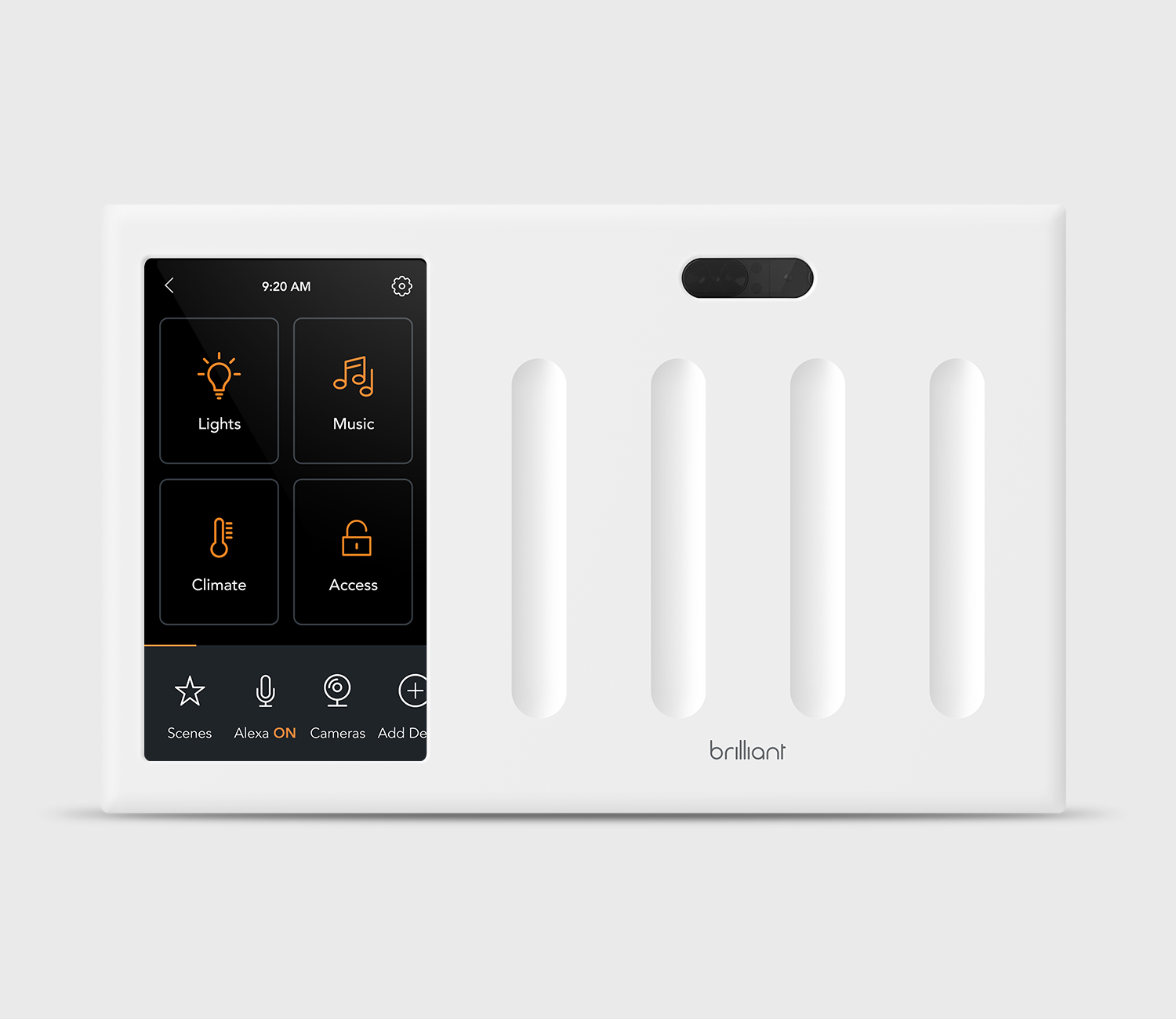 Brilliant All-in-One 4 Switch Smart Home Control - White