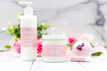 Vanilla Rose Organic Spa Set
