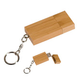 Bamboo Solid 8GB USB Flash Drive/Keychain