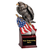 Eagle and Flag on Resin Base - 8 3/4""