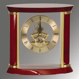 Executive Gold & Rosewood Piano Finish Clock - 7 3/4""