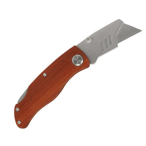 Wood Handle Utility Knife - 4""