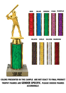 "Traditional Single Column - 10"" Trophy"