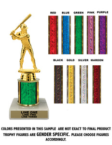 "Traditional Single Column - 08"" Trophy"