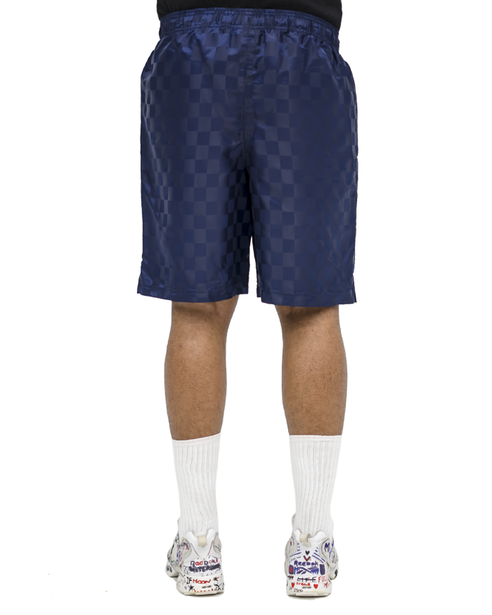 culturier® on umbro checkered soccer trunks. [Navy]