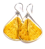 Butterfly earrings, Hebomoia Glaucippe, bottom wings