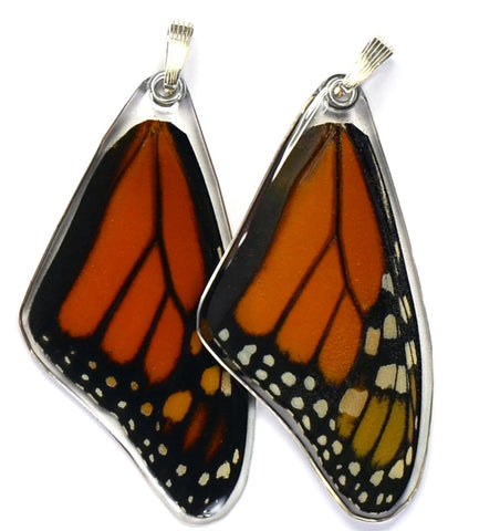 Butterfly wing pendant ONLY, Monarch, top wing