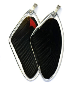 Butterfly Pendant Only, Scarlet Mormon, Top Wing