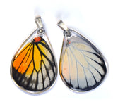 Butterfly Pendant Only, Red Spot Sawtooth, Bottom Wing