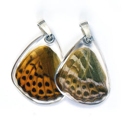 Butterfly Pendant Only, Pallas' Fritillary, Bottom Wing