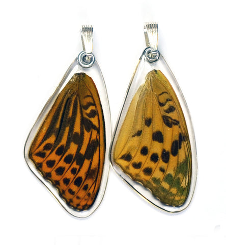 Butterfly Pendant Only, Pallas' Fritillary, Top Wing