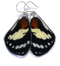 Butterfly Earrings, Trajan's Forest Queen, Top Wing