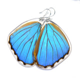 Butterfly Earrings, Giant Blue Morpho, Bottom Wing