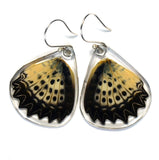 Butterfly Earrings, Leopard Lacewing, Bottom Wing