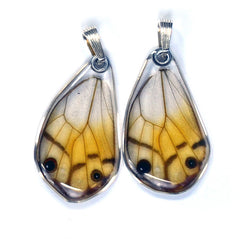 Butterfly Wing Pendant Only, Amber Phantom, Bottom Wing