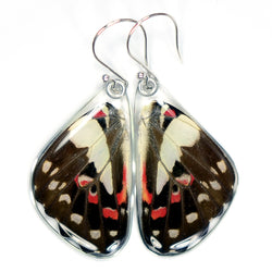 Butterfly Earrings, Pale Green Triangle, Bottom Wings