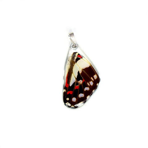 Butterfly Wing Pendant, Pale Green Triangle, Bottom Wing