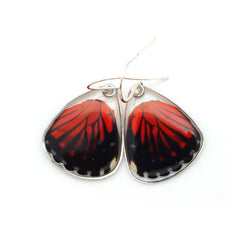 0580 Butterfly Wing Earrings, Red Cracker Butterfly, bottom wings