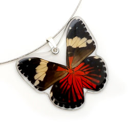 Whole Butterfly Pendant, Red Cracker Butterfly
