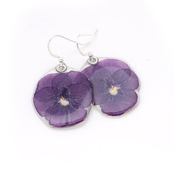 69004 Purple Pansy Earrings
