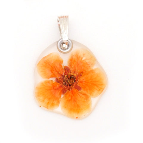 64029 Orange Bridal Wreath Flower Pendant
