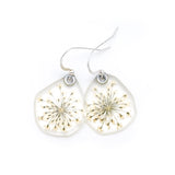 65035 Queen Anne's Lace flower earrings