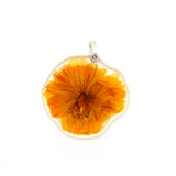 61604 Muted Yellow/Natural Cosmos Flower Pendant
