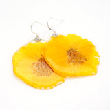 61607  Yellow  Cosmos Flower Earrings