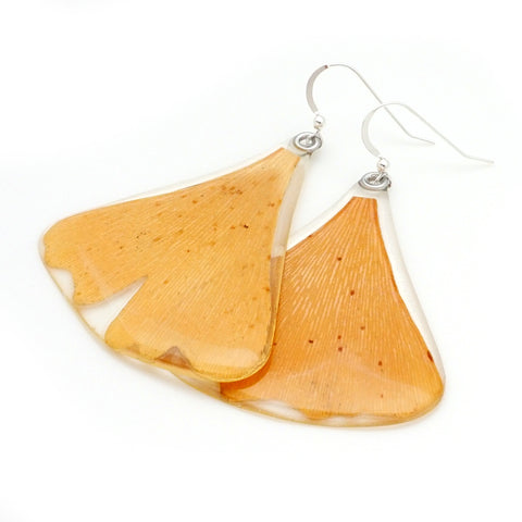 61608 Fall Gingko Leaf Earrings