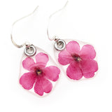 61609 Hot Pink Verbena flower earrings