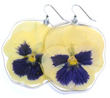 White and Purple Pansy earrings