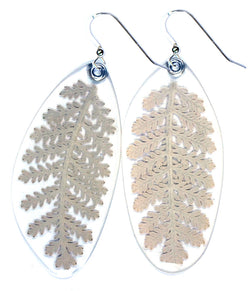 Dusty Miller Leaf Earrings