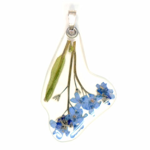 Forget-me-not on stem Pendant