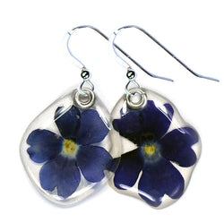 Blue verbena Earrings