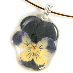 Purple Whiskered Pansy Pendant
