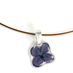 Purple Lilac Flower Pendant