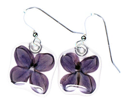 Purple Lilac Flower Earrings
