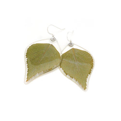 69101 Green Leaf Earrings